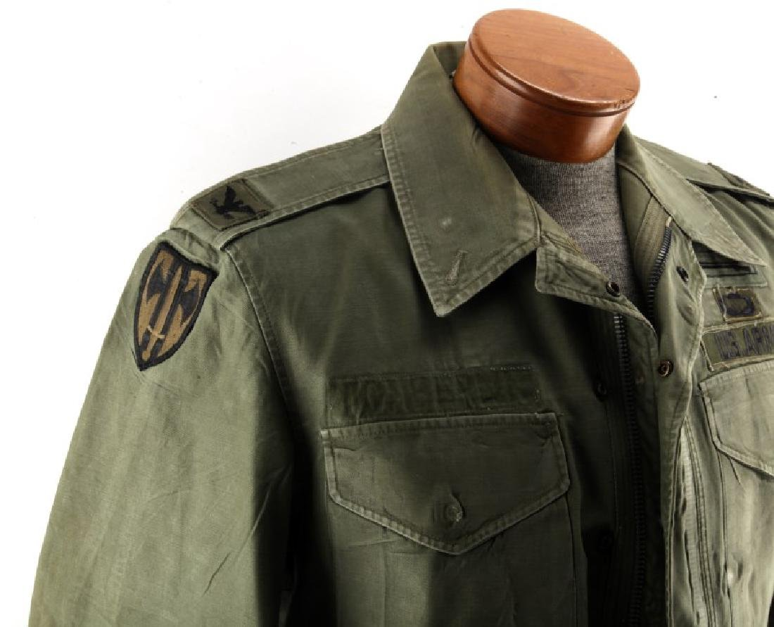 VINTAGE US ARMY FIELD JACKET COLONEL AIRBORNE OVAL - 3