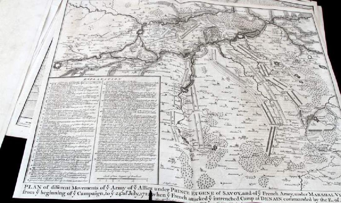 BATTLE MAPS AND PLANS OF EUROPE IN THE 1700'S - 8