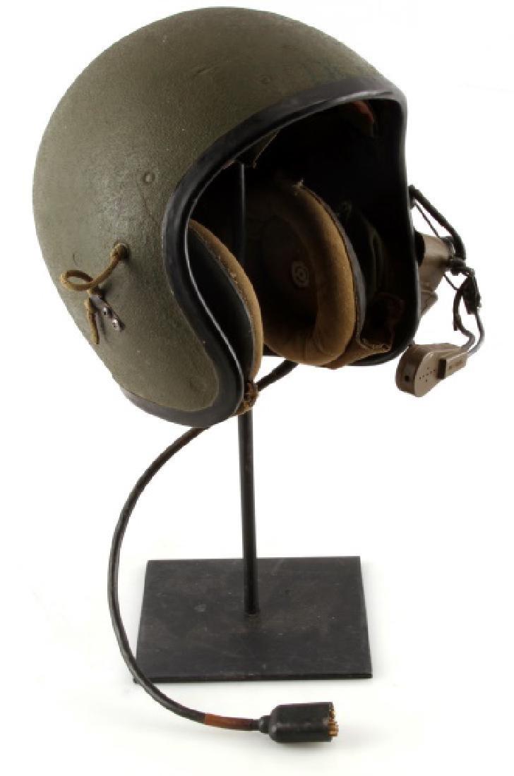 VIETNAM TANKERS HELMET W ISC MIC & HEADPHONES