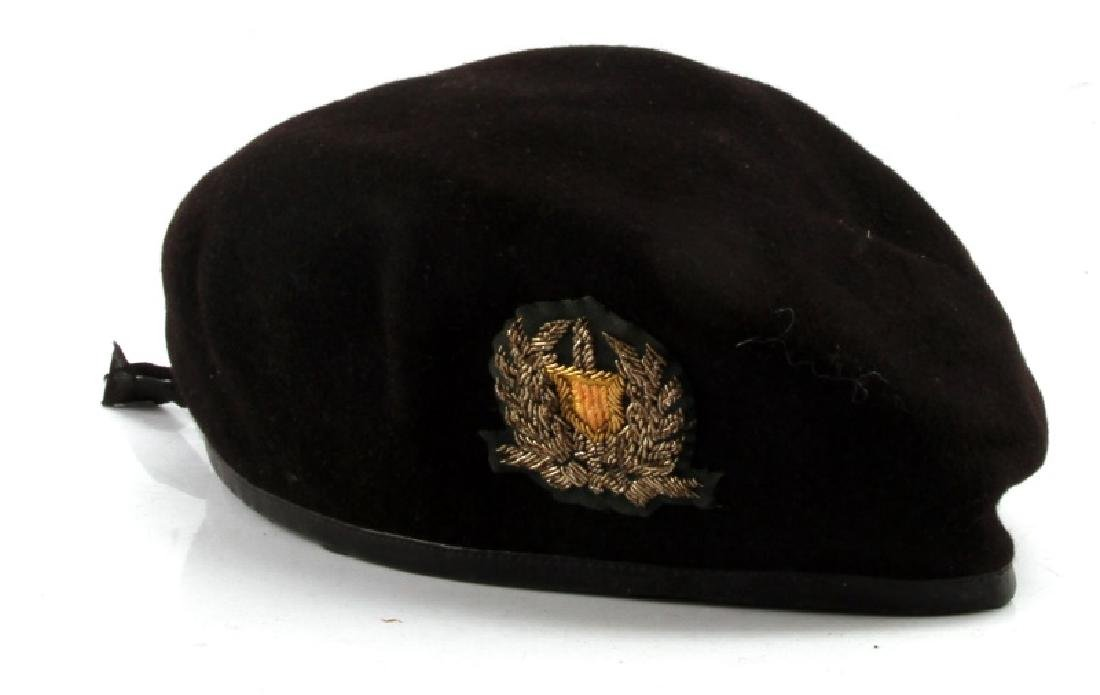 VIETNAM ARVN NATL POLICE BULLION PATCH BLACK BERET