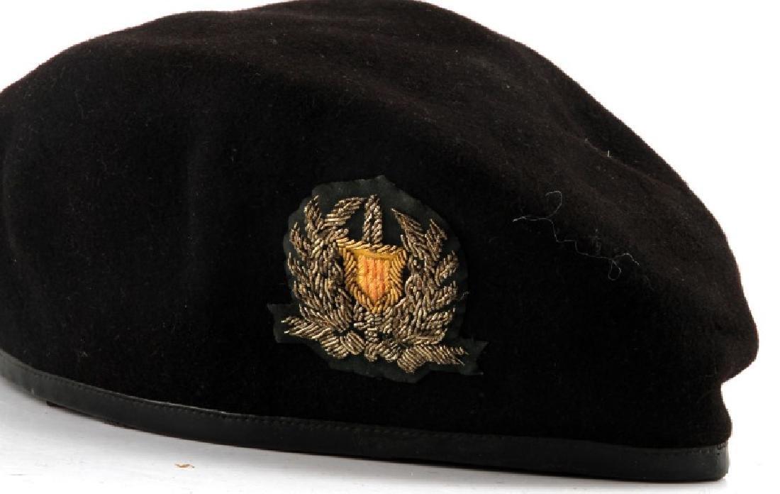 VIETNAM ARVN NATL POLICE BULLION PATCH BLACK BERET - 2