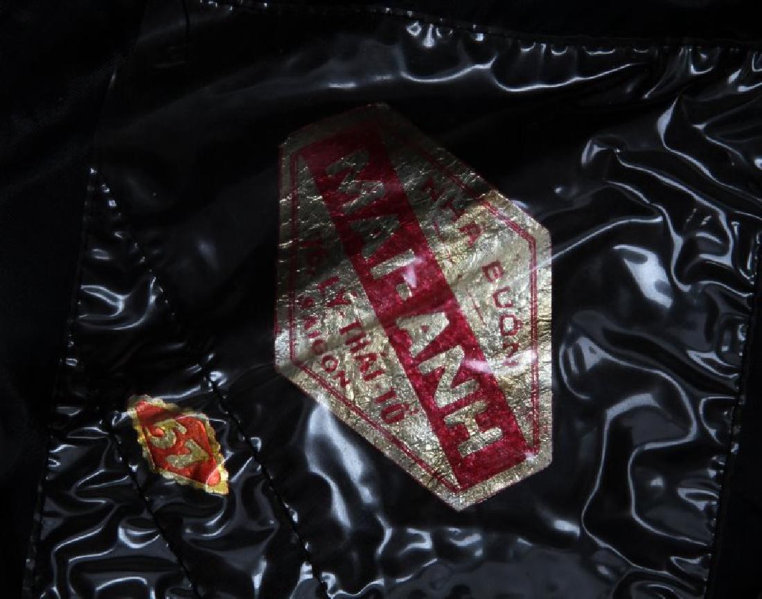 VIETNAM ARVN NATL POLICE BULLION PATCH BLACK BERET - 3