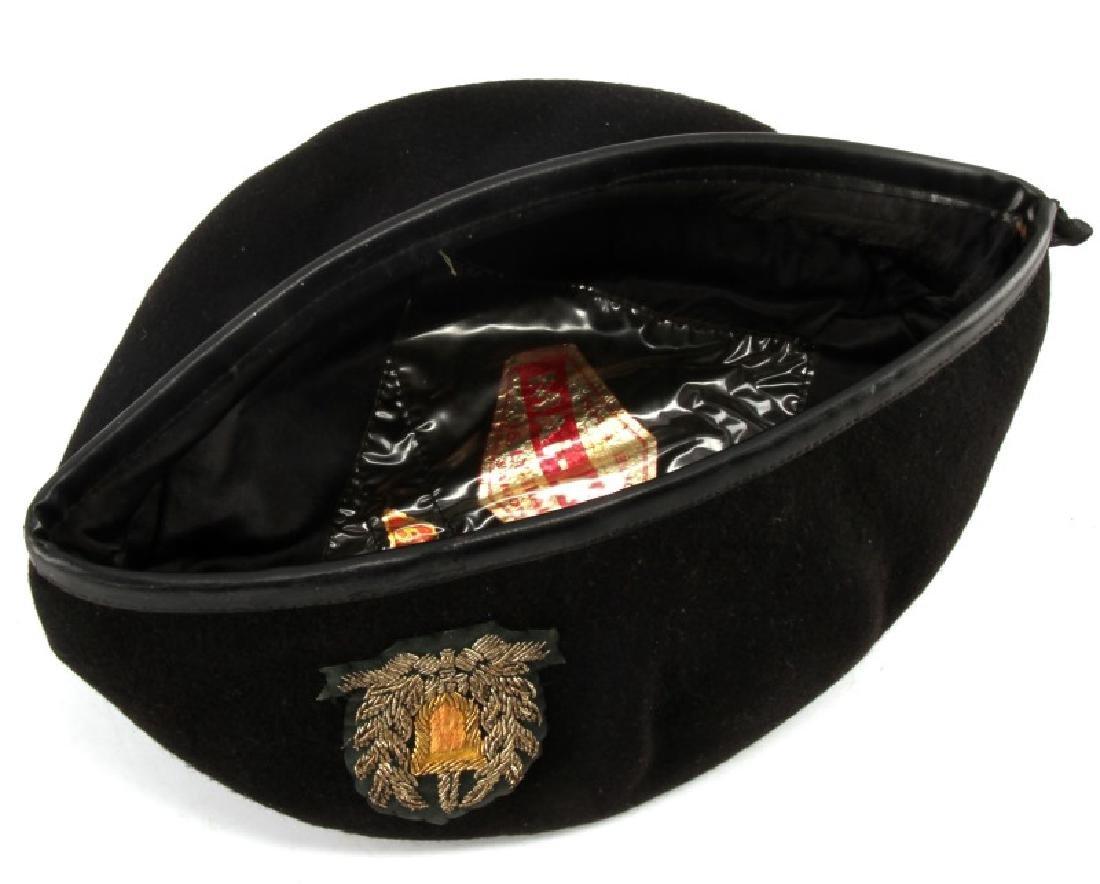 VIETNAM ARVN NATL POLICE BULLION PATCH BLACK BERET - 4