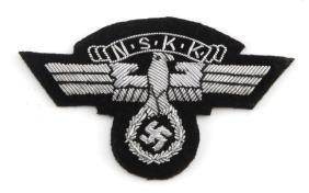 WWII GERMAN SILVER NSKK SLEEVE PATCH THIRD REICH