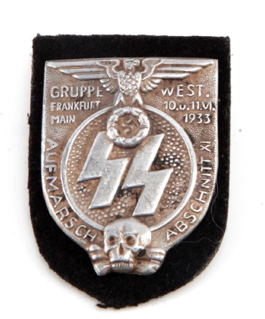 NSKK GERMAN THIRD REICH 1933 SS GRUPPE WEST SHIELD
