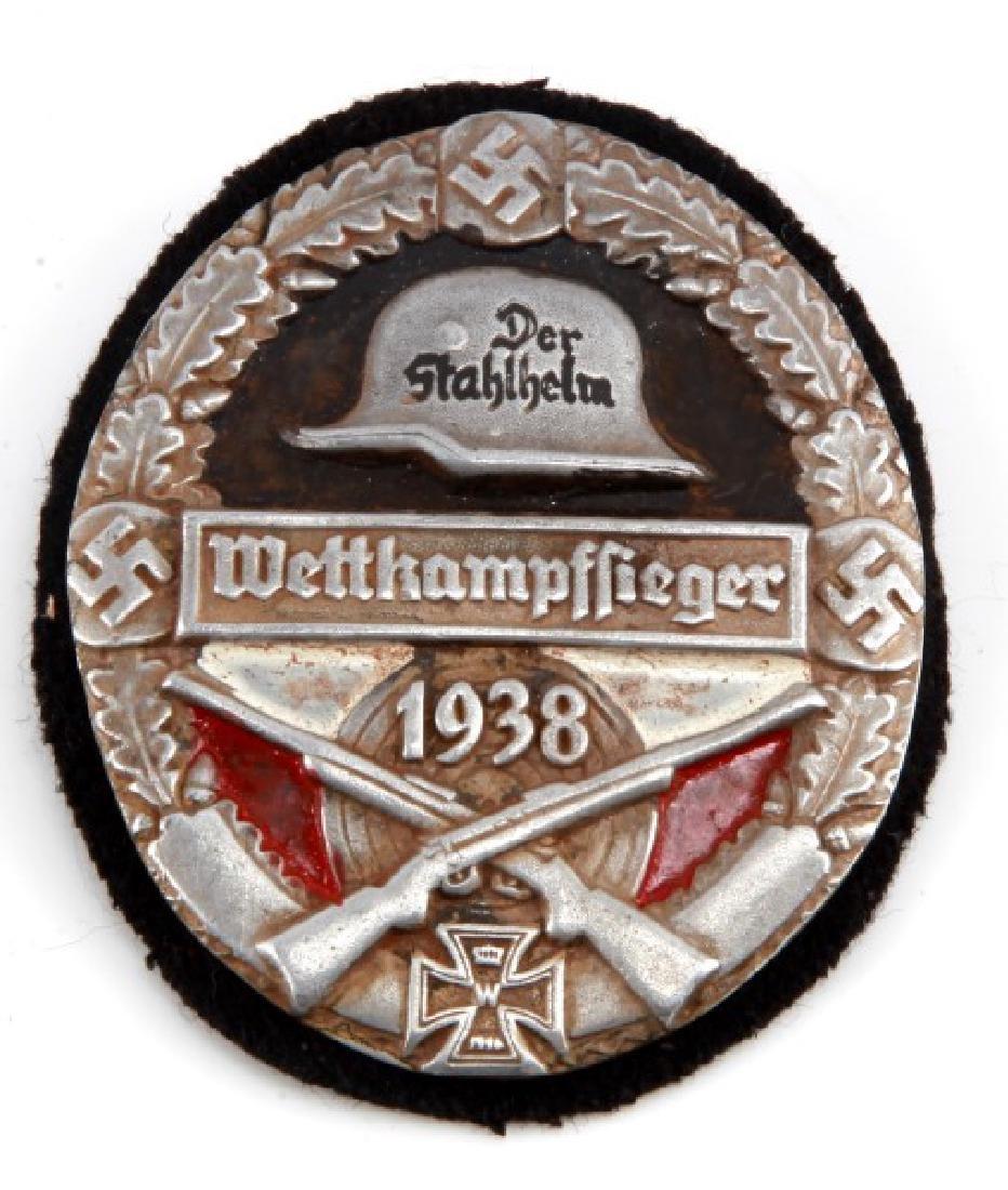 WWII THIRD REICH 1938 DER STALHELM PARTY SHIELD