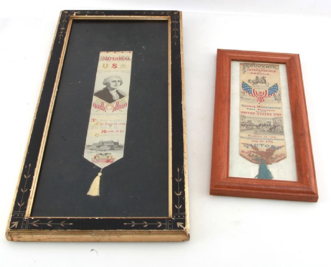 LOT GEORGE WASHINGTON 1876 SILK CENTENNIAL RIBBONS