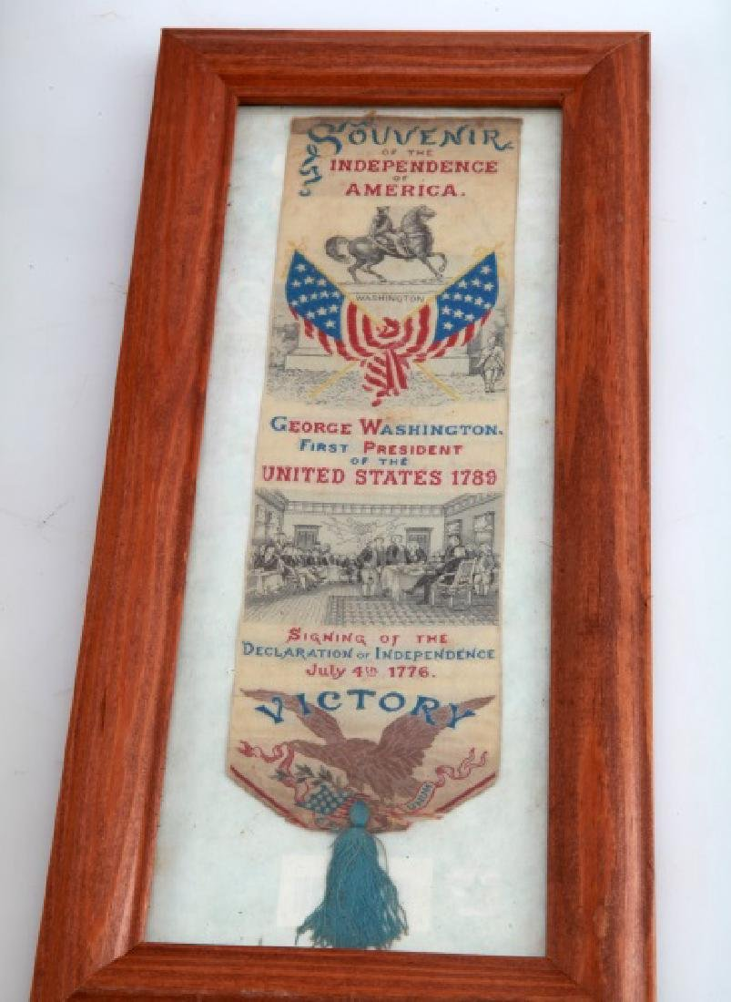 LOT GEORGE WASHINGTON 1876 SILK CENTENNIAL RIBBONS - 3