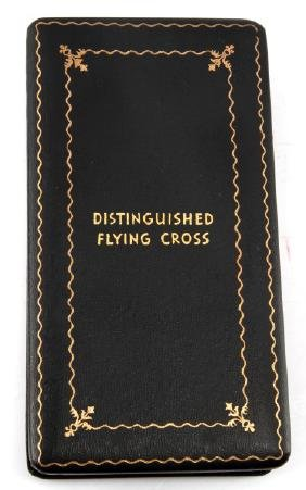 WWII U.S. DISTINGUISHED FLYING CROSS COFFIN CASE