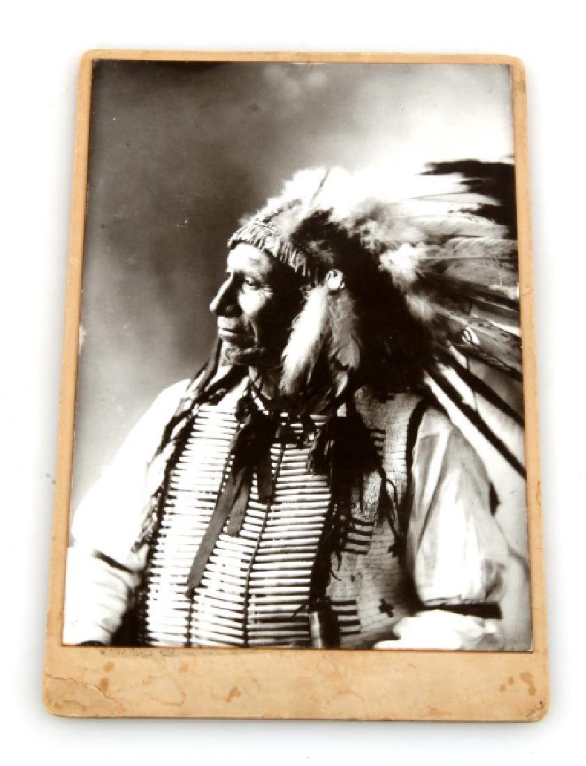 ANTIQUE PHOTOGRAPH INDIAN CHIEF AMERICAN HORSE