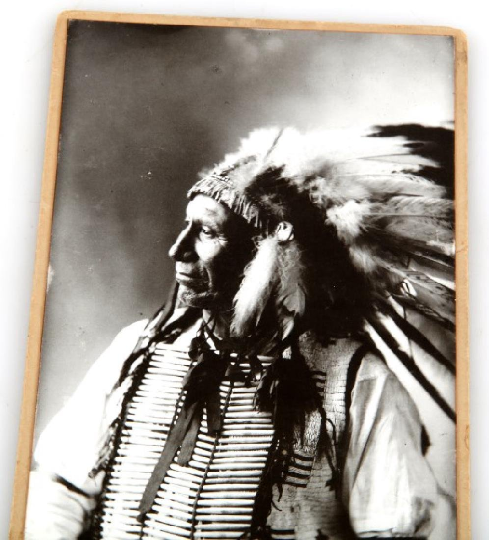 ANTIQUE PHOTOGRAPH INDIAN CHIEF AMERICAN HORSE - 2