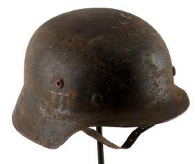 GERMAN WWII WAFFEN SS DOUBLE DECAL HELMET