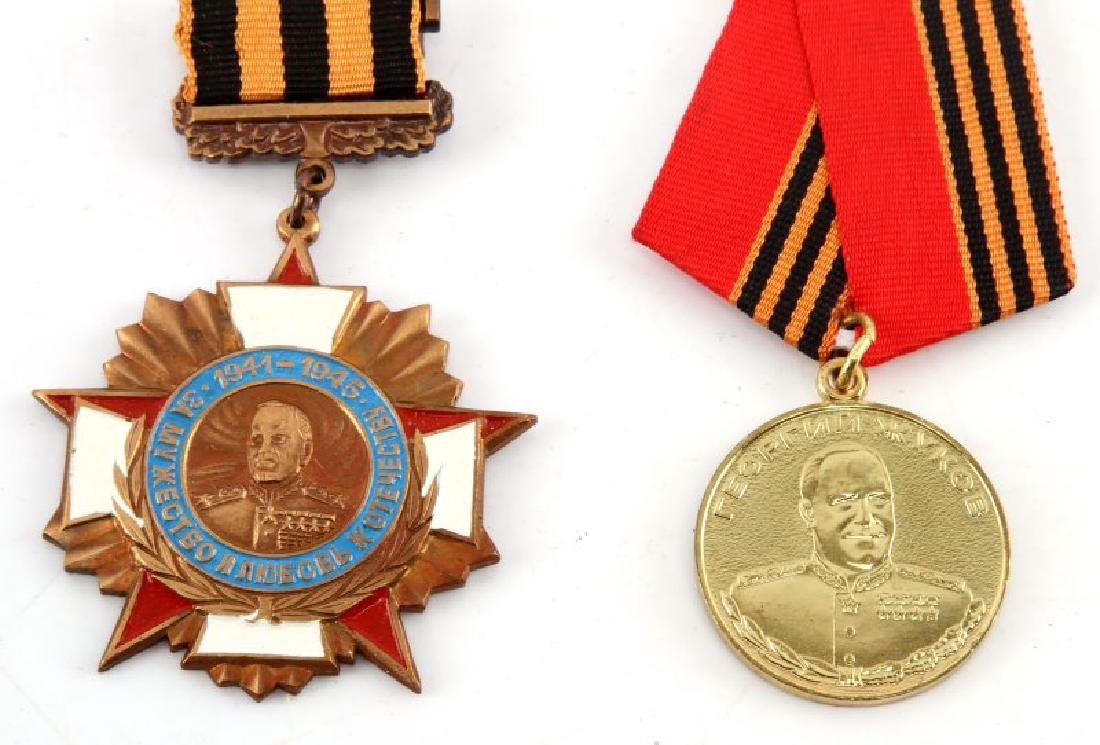 GROUP OF 2 RUSSIAN ZHUKOV MEDALS 100 ANNIVERSARY - 2
