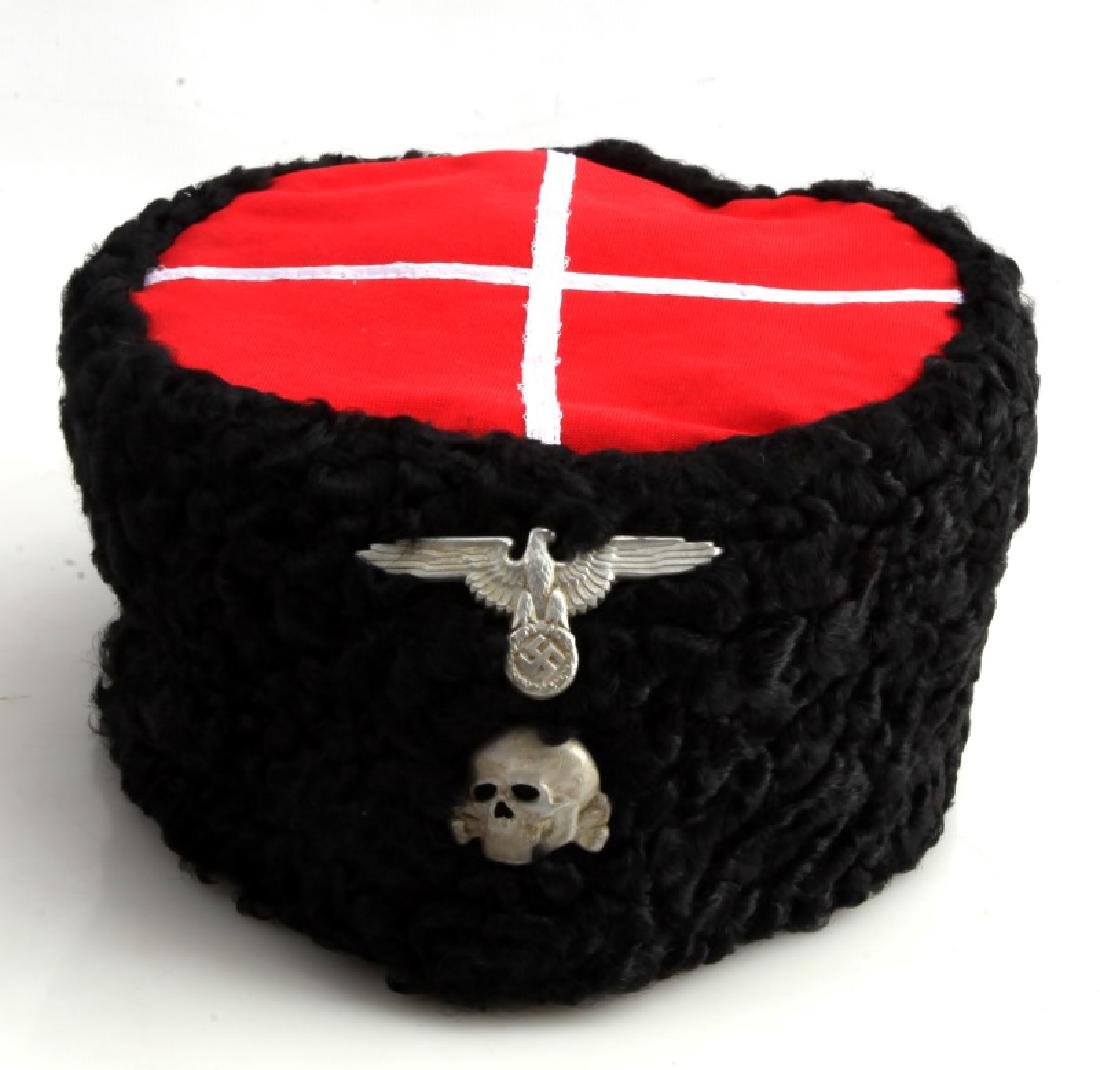 efaffdcea RUSSIAN COSSACKS HAT PAPAKHA GERMAN WWII WAFFEN SS