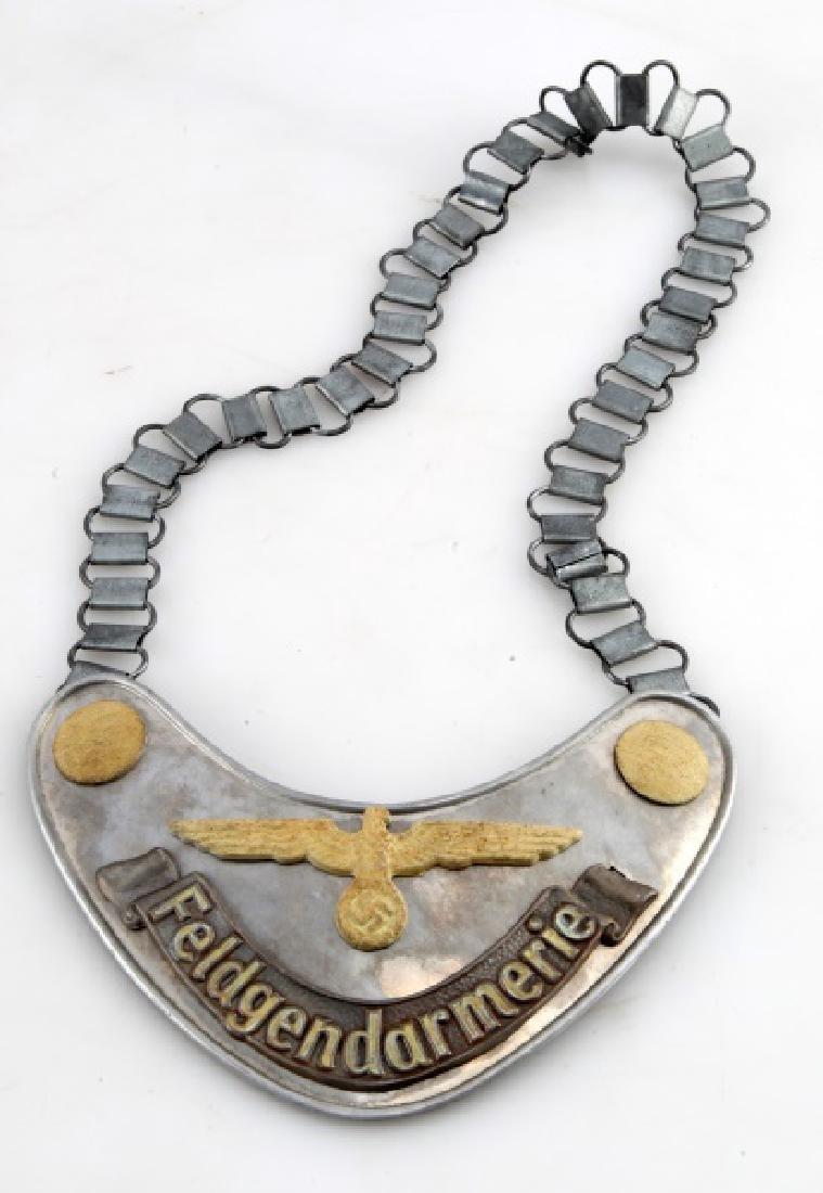GERMAN 3RD REICH ARMY FIELD ZHANDARM GORGET CHAIN