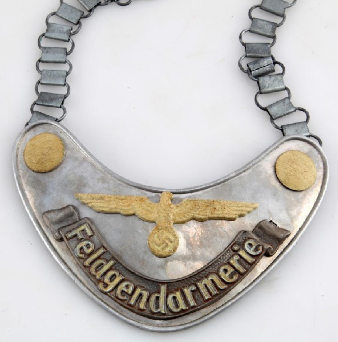 GERMAN 3RD REICH ARMY FIELD ZHANDARM GORGET CHAIN - 2