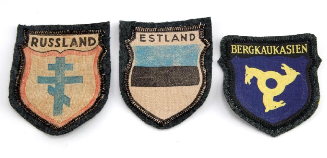 LOT OF 3 - VOLUNTEER PATCHES GERMAN WWII RUSSIA