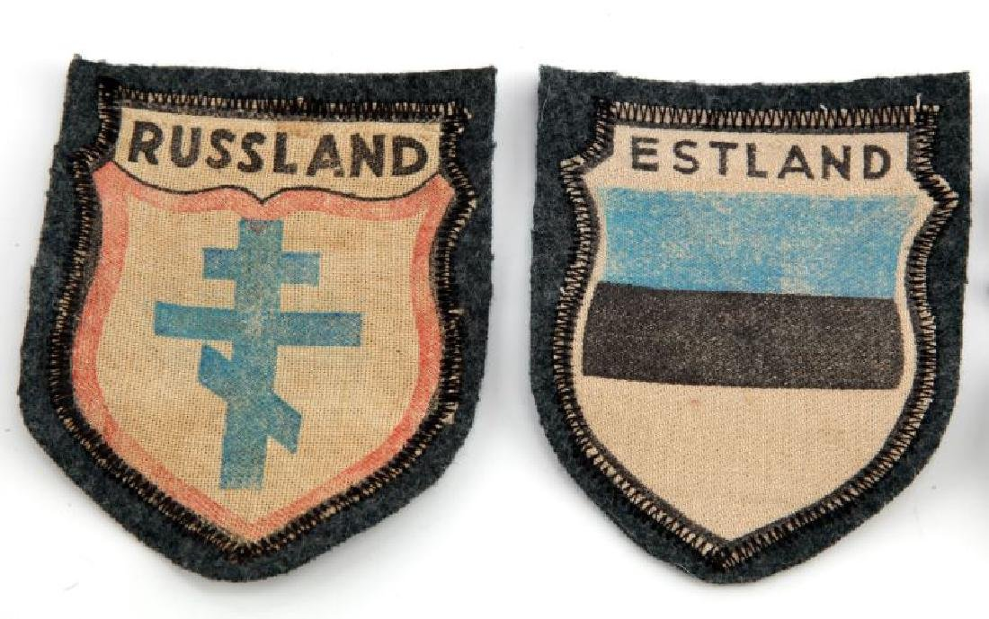 LOT OF 3 - VOLUNTEER PATCHES GERMAN WWII RUSSIA - 2