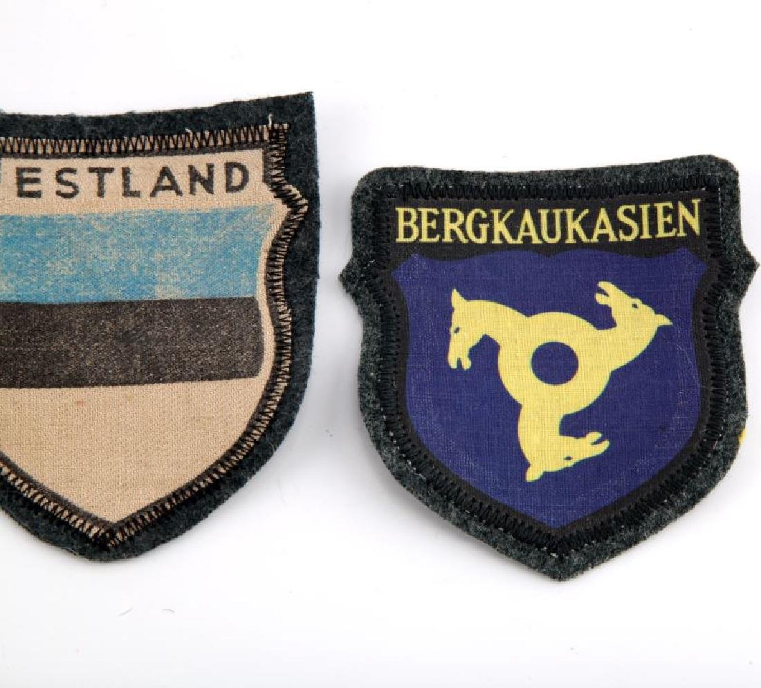 LOT OF 3 - VOLUNTEER PATCHES GERMAN WWII RUSSIA - 3