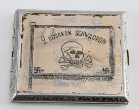 RUSSIAN COSSACKS CIGARETTE CASE WWII GERMAN RARE