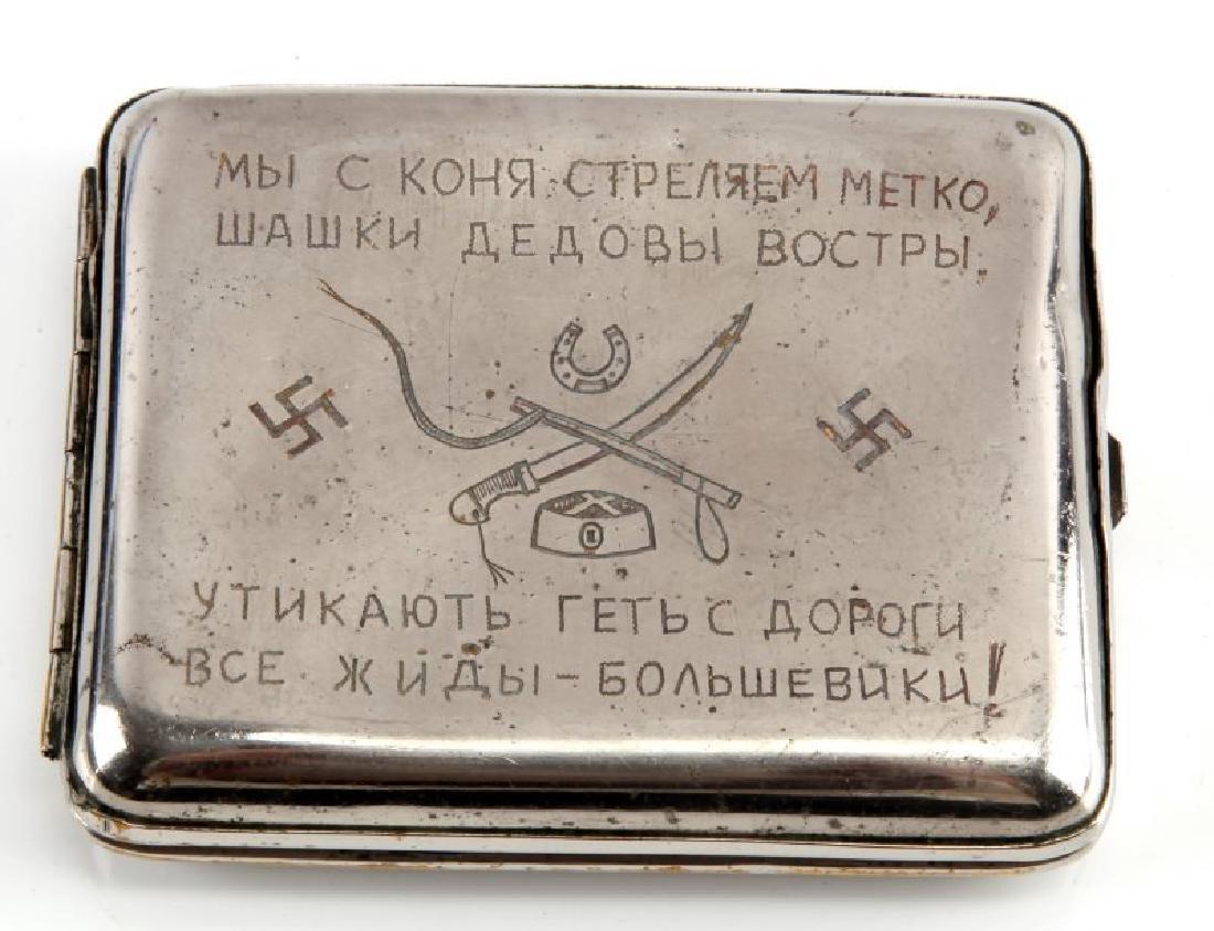 RUSSIAN COSSACKS CIGARETTE CASE ANTI-SEMITIC