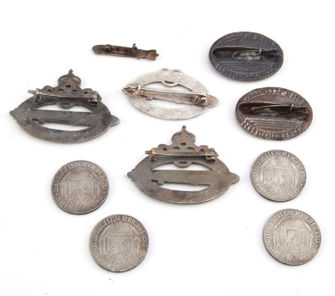 GROUP OF 10 WWII GERMAN ZEPPELIN BADGES & COINS - 5