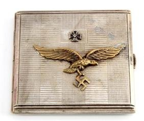 WWII GERMAN 3RD REICH LUFTWAFFE CIGARETTE CASE