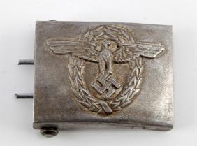 WWII GERMAN THIRD REICH POLIZEI POLICE BELT BUCKLE