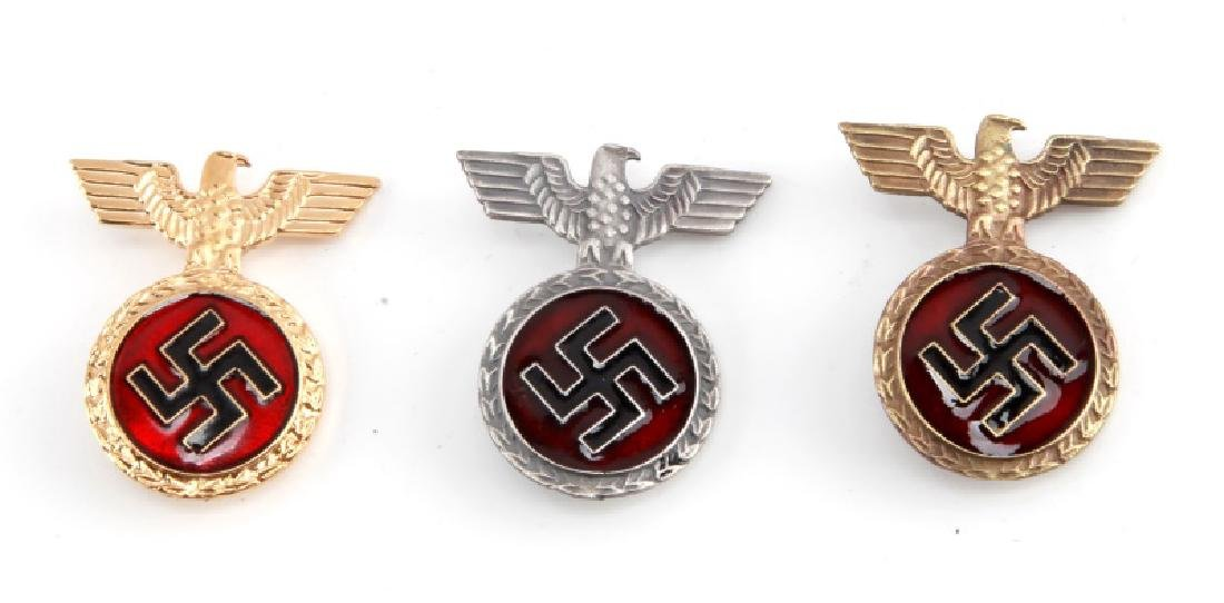 LOT OF 3 NSDAP THIRD REICH NSKK PARTY HONOR PINS