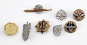 GROUP OF 8 NSDAP THIRD REICH NSKK PINS & BADGES