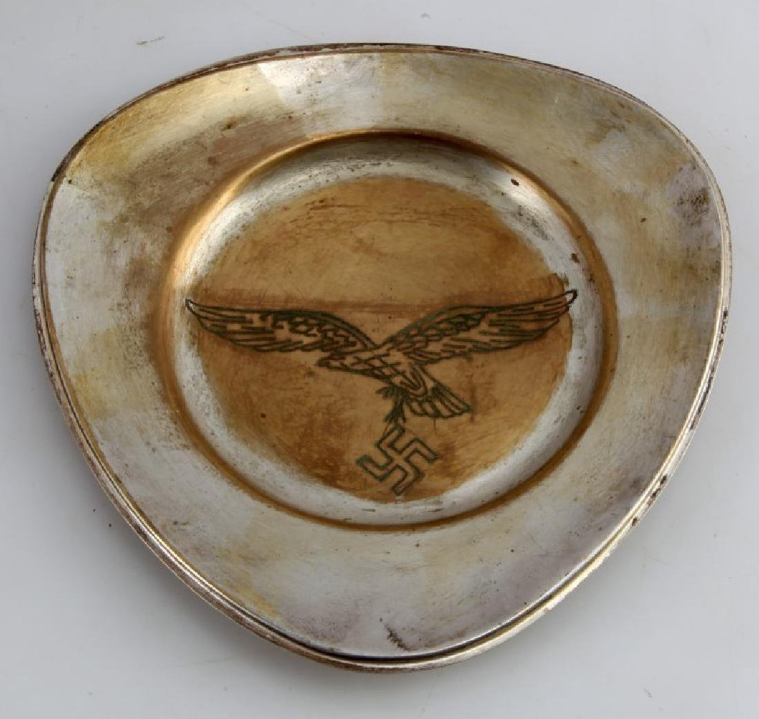 GERMAN 3RD REICH LUIFTWAFFE PRESENTATION PLATE SS