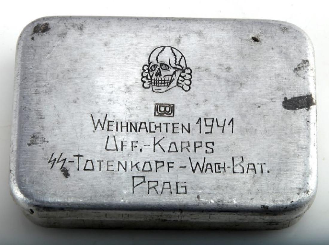 GERMAN WAFFEN SS DIVISION TOTENKOPF TOBACCO BOX