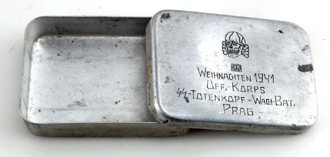 GERMAN WAFFEN SS DIVISION TOTENKOPF TOBACCO BOX - 2