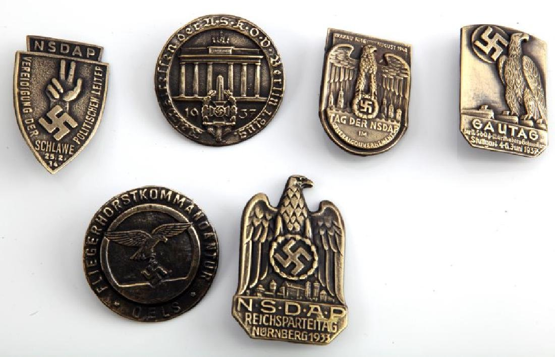 GROUP OF 6 GERMAN WWII THIRD REICH TINNIES - 2