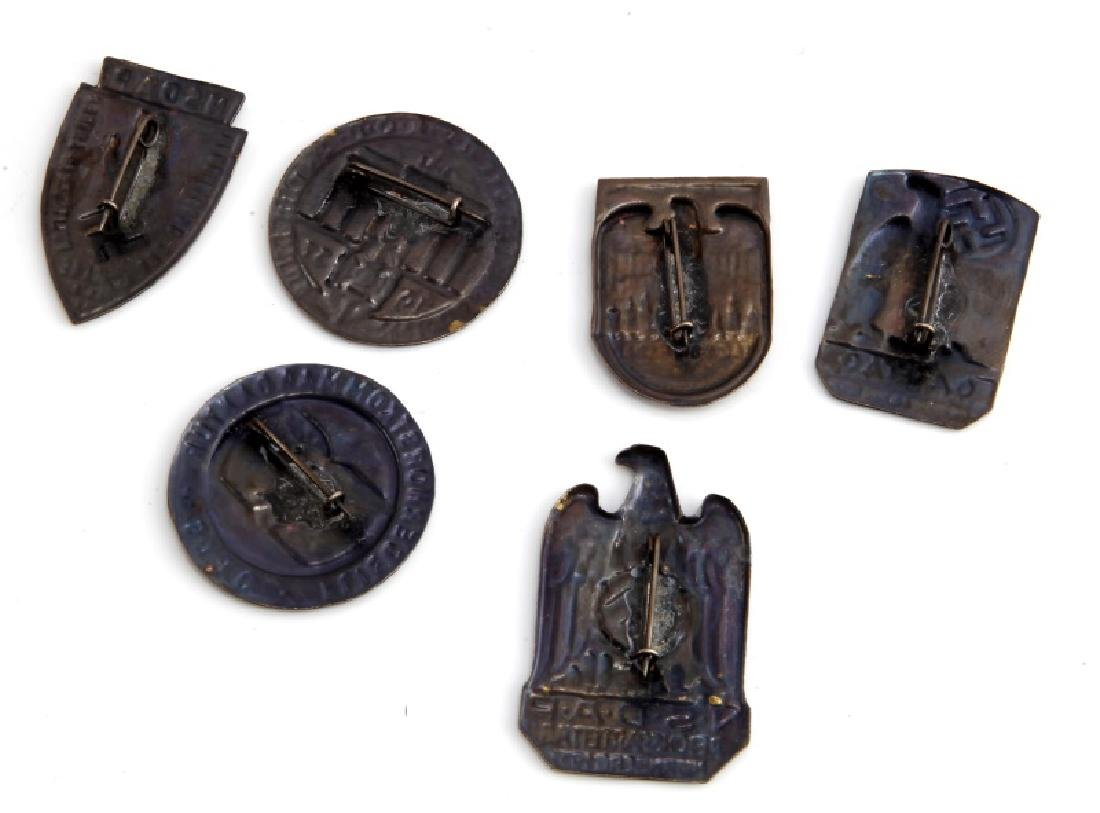 GROUP OF 6 GERMAN WWII THIRD REICH TINNIES - 3