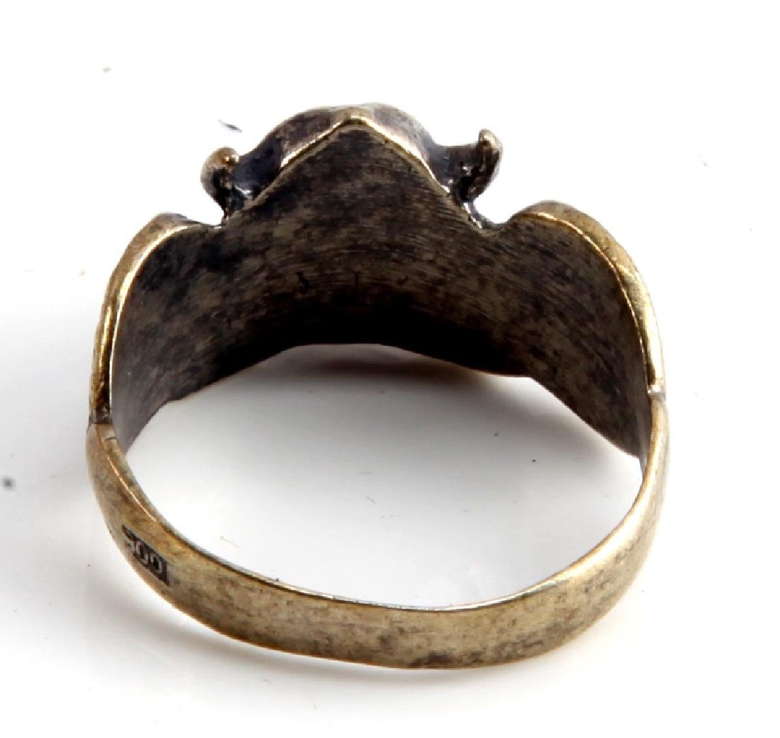 GERMAN WWII WAFFEN SS DIVISION VIKING SILVER RING - 3