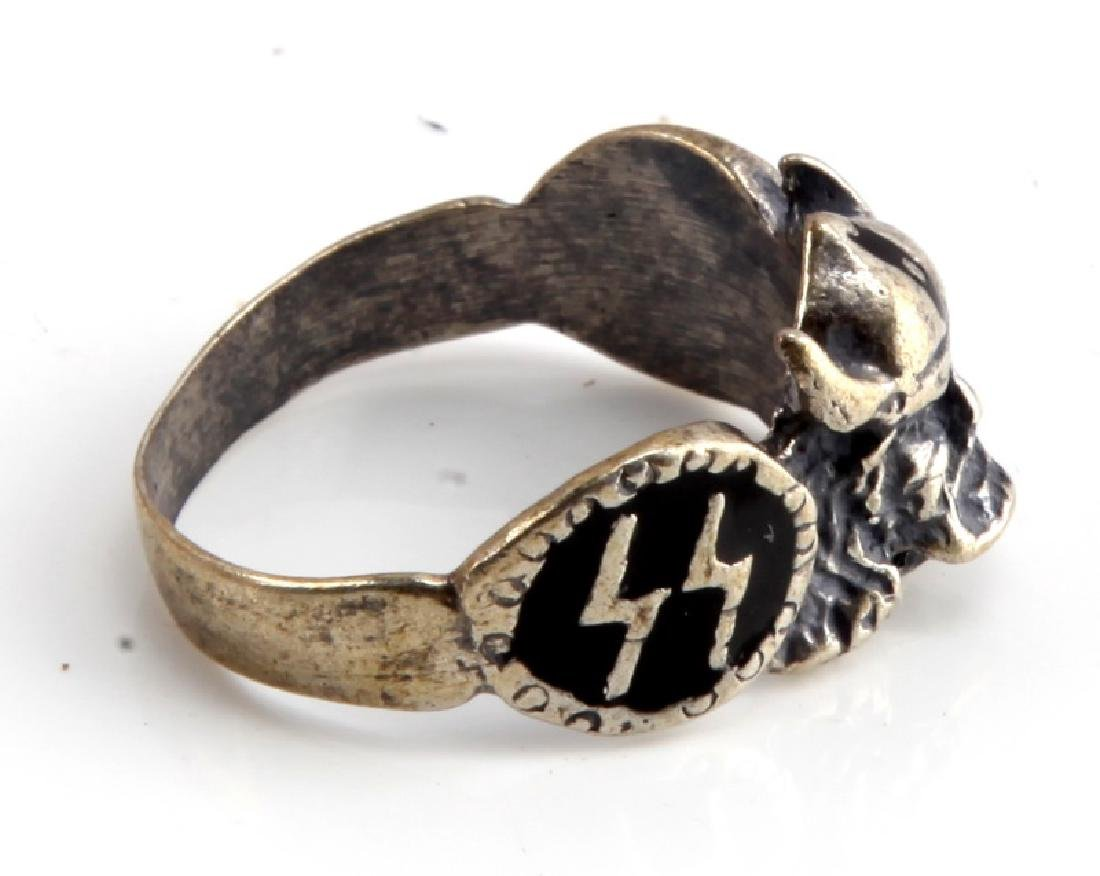 GERMAN WWII WAFFEN SS DIVISION VIKING SILVER RING - 4