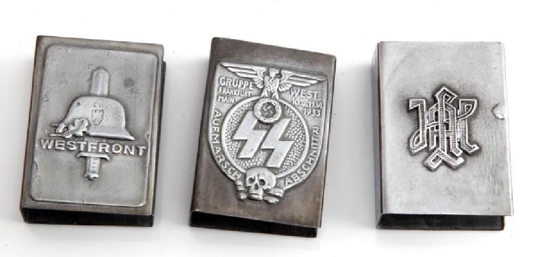3 GERMAN WWII THIRD REICH MATCH BOX COVERS