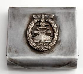 GERMAN WWII TR KRIEGSMARINE CIGARETTE CASE