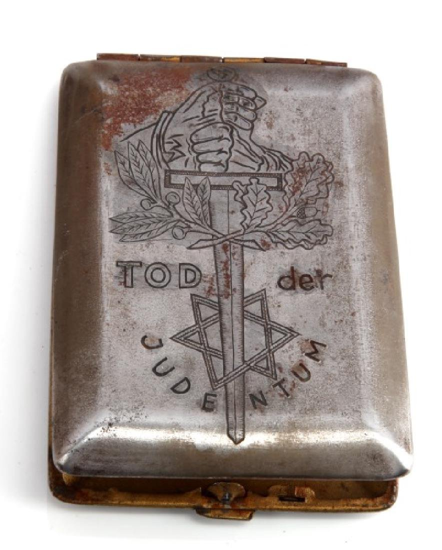 WWII THIRD REICH ANTI-SEMITIC CIGARETTE CASE