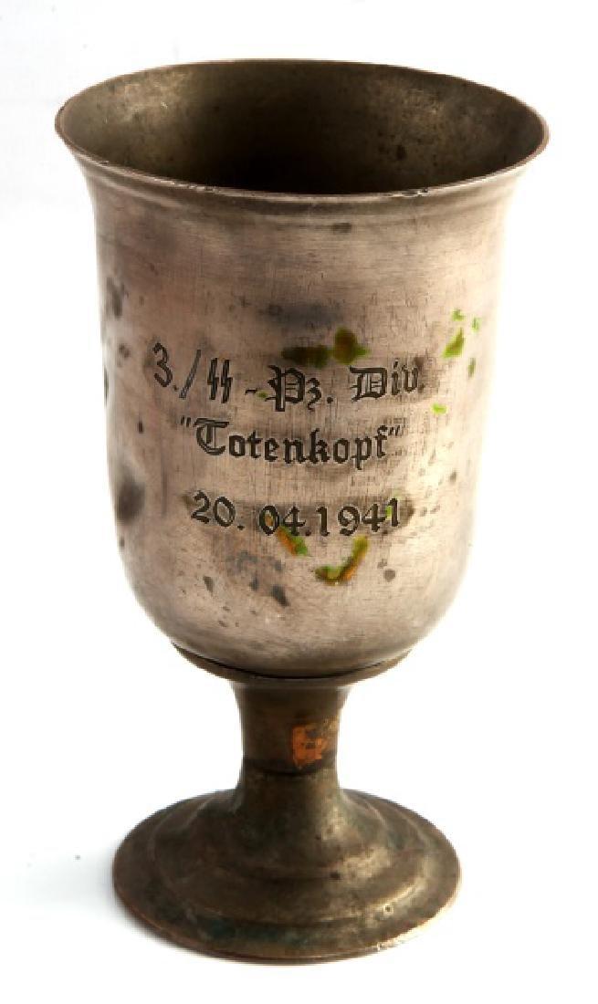 WWII THIRD REICH TOTENKOPF PRESENTATION CUP