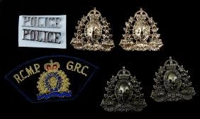 LOT OF 7 RCMP ROYAL CANADIAN MOUNTED POLICE BADGES