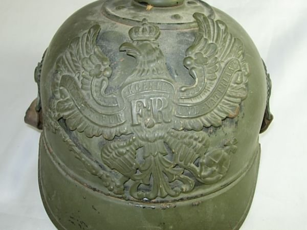 200: WWI GERMAN SPIKED HELMET PICKELHAUBE NAMED RARE - 2