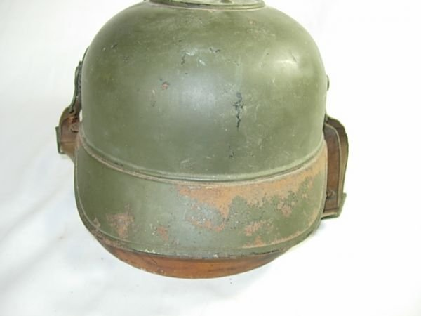 200: WWI GERMAN SPIKED HELMET PICKELHAUBE NAMED RARE - 4
