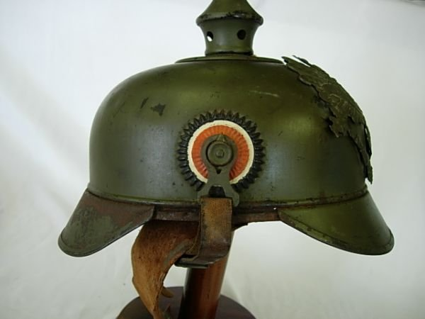 200: WWI GERMAN SPIKED HELMET PICKELHAUBE NAMED RARE - 7