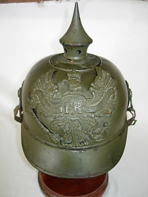 200: WWI GERMAN SPIKED HELMET PICKELHAUBE NAMED RARE - 8