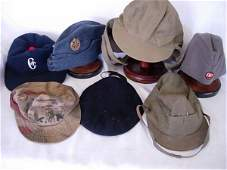 VINTAGE WWII MILITARY US RUSSIAN CAPS HATS LOT