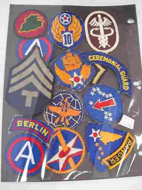 WWII US MILITARY PATCH HUGE LOT AIR FORCE ARMY