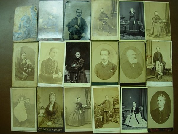 ANTIQUE CDV PHOTOGRAPH LOT OF 18