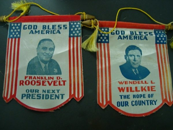 3RD TERM CAMPAIGN FLAGS FOR FRANKLIN D ROOSEVELT